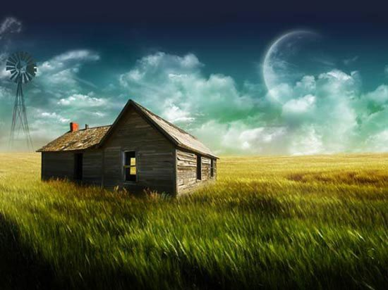 Stunning HD Wallpaper - Grass & Hut