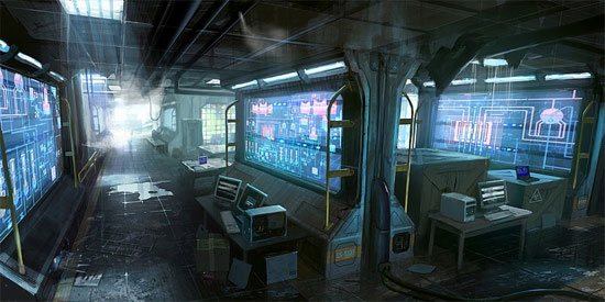 45 amazing video games collection of 2010 for Cyberpunk interior design