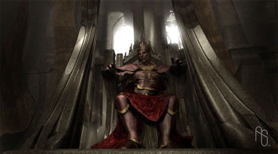 King on Throne Concept