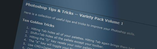 Photoshop Tips & Tricks - Variety Pack Volume 1 - screen shot.
