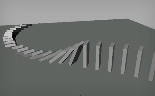 Domino Effect in The Ultimate Collection Of Maya 3D Tutorials