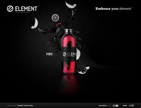 embraceyourelement-day-3d-flash-inspiration-webdesign