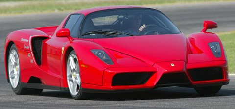 Ferrari Enzo track run front view