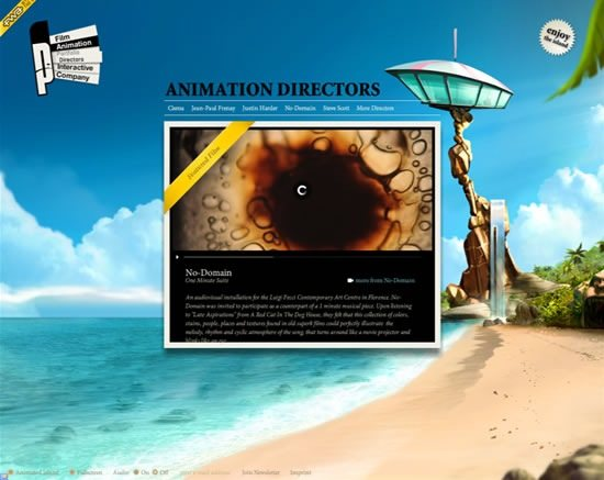 parasol-island-cool-3d-flash-websites
