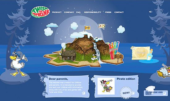 twistanddrink-3d-flash-inspiration-webdesign