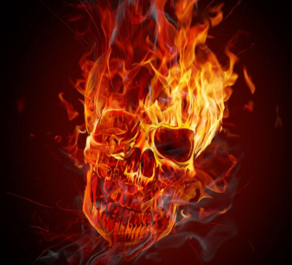 Create a Hellacious Flaming Skull