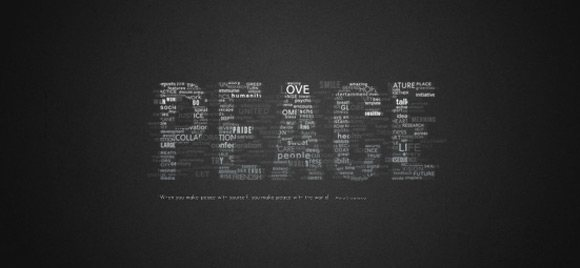 Great Typographic Wallpaper