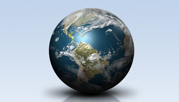 Create a Shiny Earth with Photoshop 3D Layers