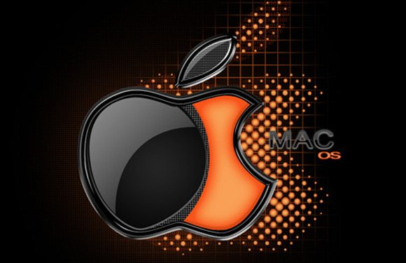 Awesome wallpaper with Mac OS X logo