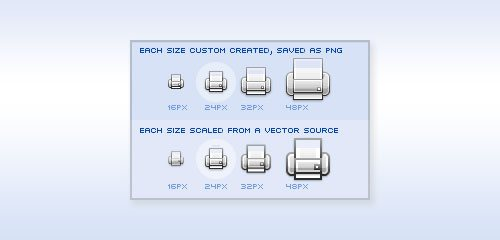 Icon Design: Bitmap vs Vector - screen shot.