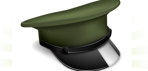 How to Make a Vector Military Cap Icon - screen shot.
