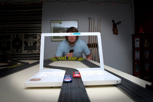 Illusion Trick, See Through Screen Photos