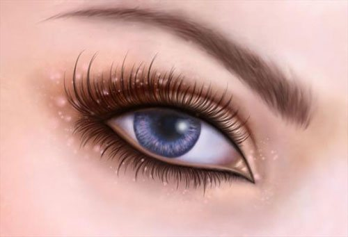 Eyes in 25 Incredible and Impressive Painting Tutorials by Designsmag