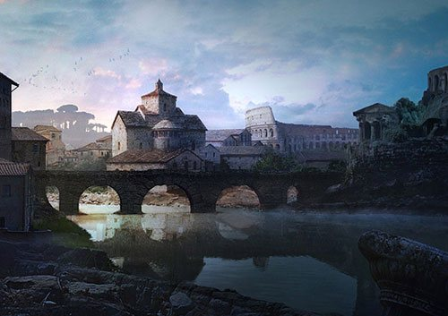 Rome in 25 Incredible and Impressive Painting Tutorials by Designsmag