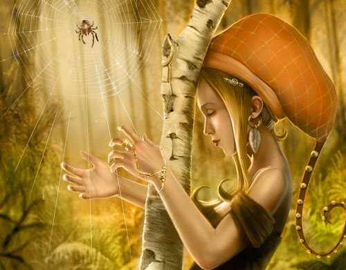 Spider in 25 Incredible and Impressive Painting Tutorials by Designsmag