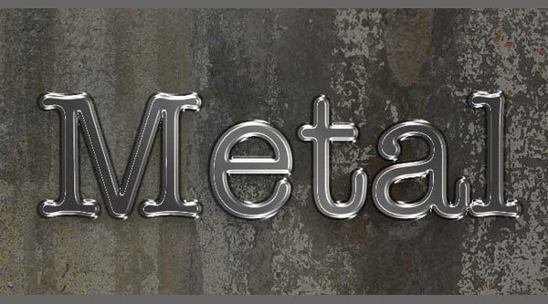3 cool text effects Gold , Metal & plastic in photoshop