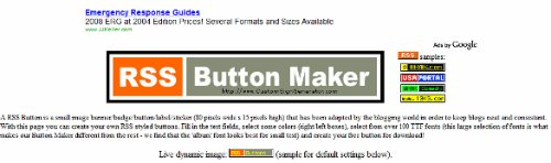 RSS Buttons, RSS Button Generator