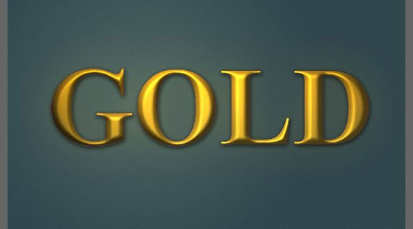 Photoshopping Gold Text With Channels