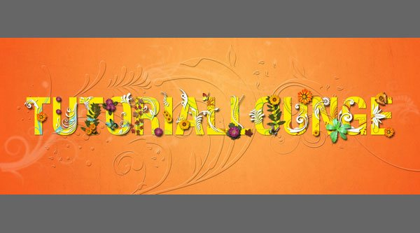 How To Create Floral Theme Typography Using Photoshop and Illustrator