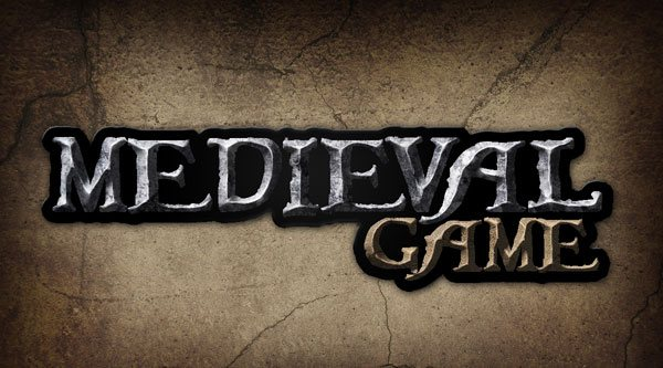 Give a Medieval Game Logo a Rough Stone Look