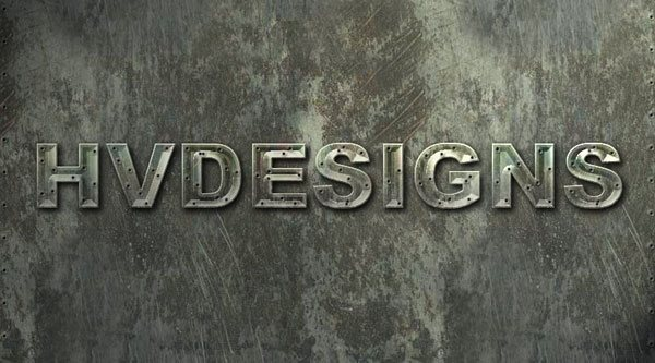 Learn How To Create Metal Textured Text