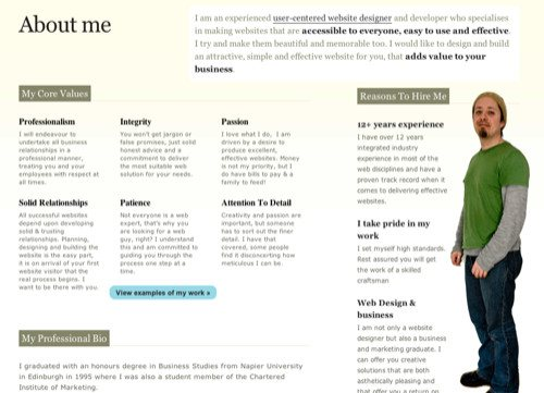 About Dave Harrison in Best Practices For Effective Design Of About me-Pages