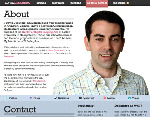 About David Desandro in Best Practices For Effective Design Of About me-Pages