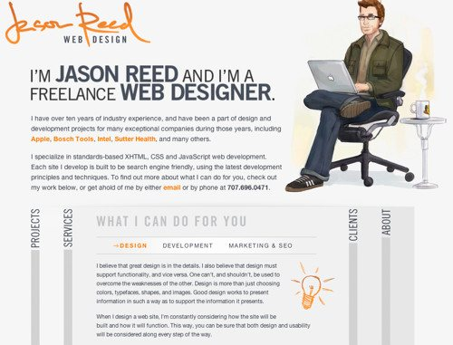 About Jason Reed in Best Practices For Effective Design Of About me-Pages