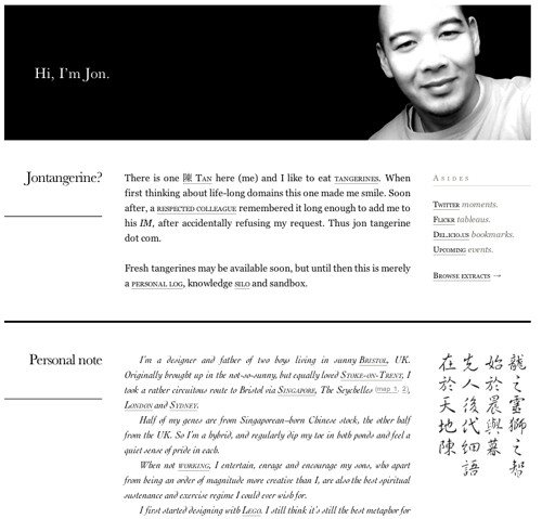 About Jon Tan in Best Practices For Effective Design Of About me-Pages