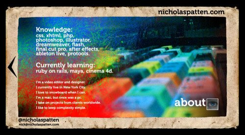 About Nicholaspatten in Best Practices For Effective Design Of About me-Pages