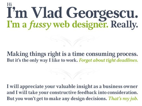 About Vlad Georgescu in Best Practices For Effective Design Of About me-Pages