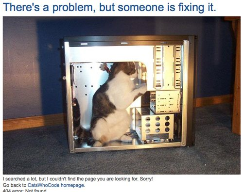 catswhocode 60 Really Cool and Creative Error 404 Pages by Designsmag
