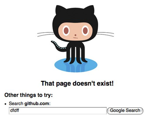 github 60 Really Cool and Creative Error 404 Pages by Designsmag