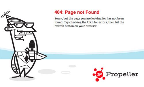 propeller 60 Really Cool and Creative Error 404 Pages by Designsmag