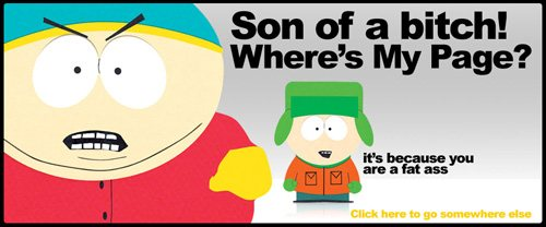 southparkstudios 60 Really Cool and Creative Error 404 Pages by Designsmag
