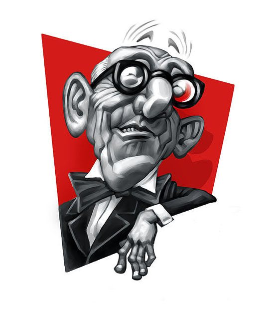 Le CORBUSIER caricature