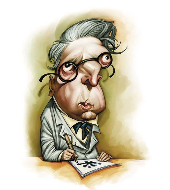 William Butler YEATS caricature