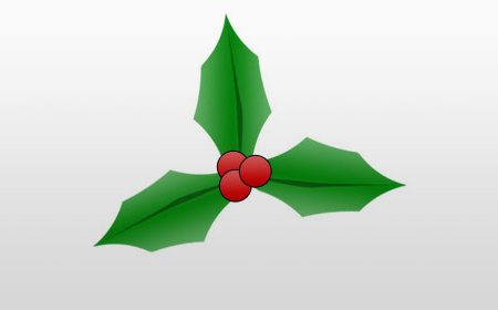 Christmas-holly in 60 Beautiful Christmas Photoshop Tutorials