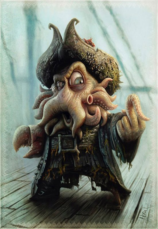davy jones caricature