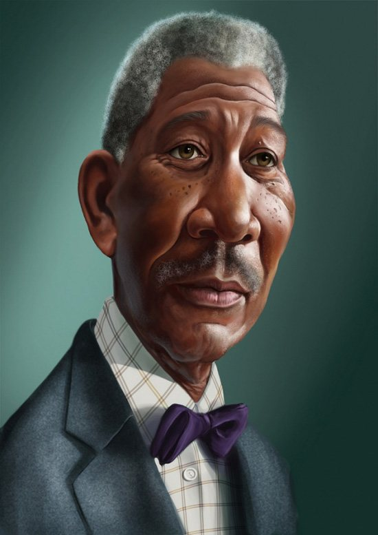 morgan freeman caricature photo