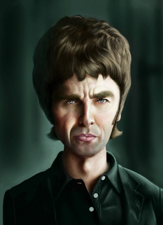 noel gallagher oasis caricature