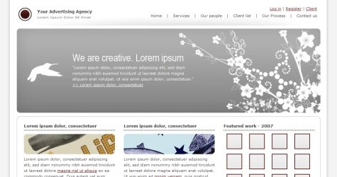 Adagency in 100 Free High-Quality XHTML/CSS Templates