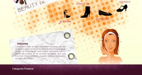 Beautyco in 100 Free High-Quality XHTML/CSS Templates