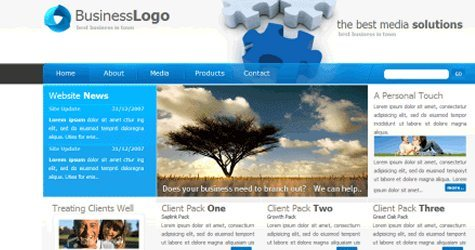 Bizcompany in 100 Free High-Quality XHTML/CSS Templates