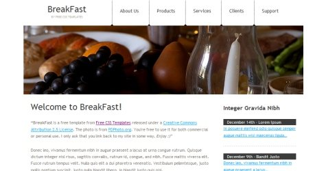 Break in 100 Free High-Quality XHTML/CSS Templates