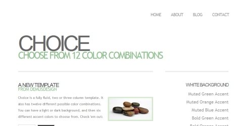 Choice in 100 Free High-Quality XHTML/CSS Templates