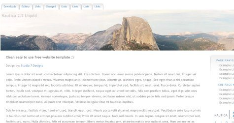 Cleandesign in 100 Free High-Quality XHTML/CSS Templates