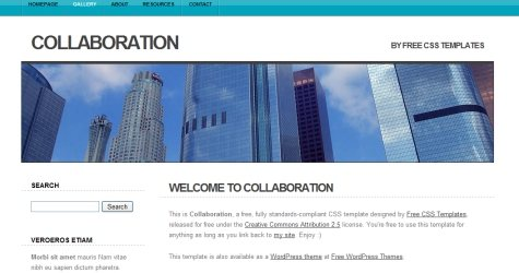 Collab in 100 Free High-Quality XHTML/CSS Templates