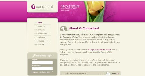 Consultant in 100 Free High-Quality XHTML/CSS Templates