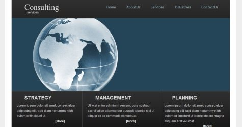 Consultingservices in 100 Free High-Quality XHTML/CSS Templates